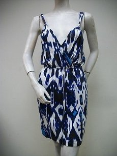 Charlie jade short dress Blue White Sleeveless Style on Tradesy