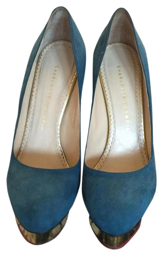 Charlotte Olympia Teal Pump Platforms Size US 8.5 Regular (M, B)
