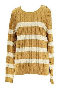 Charter Club P Striped Womens Sweater
