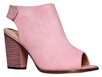 Chase & Chloe Block Pink Boots