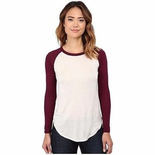 Chaser Ivorywine Red Long T Shirt Ivory/Wine