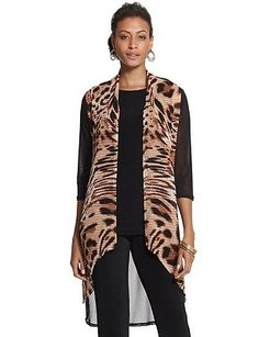 Chico's Chicos Travelers Mesh Mix Multi-Color Jacket