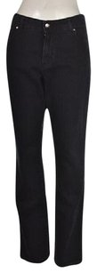 Chico's Additions By Womens Blue 1s Dark Wash Pants Boot Cut Jeans