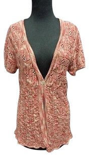 Chico's Knit Linen Blend Casual One Button Cardigan 1 Sma6618 Sweater
