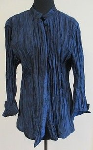 Chico's Chicos Ocean Polyester Top Blue
