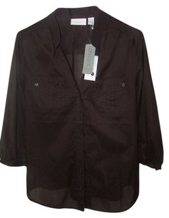 Chico's Nwt Button Down Shirt Brown
