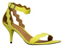 Chinese Laundry Ankle-strap Heels-and-pumps Low-mid-heel Rubielimemicrosue-11 Yellow Sandals