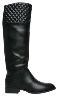Chinese Laundry Riding Knee High Low Heel Pull On Stitched Black Boots