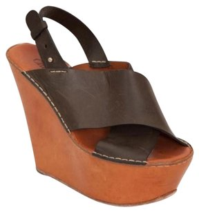 Chloé Chloe Womens Blackbrown Tan Multi-Color Platforms