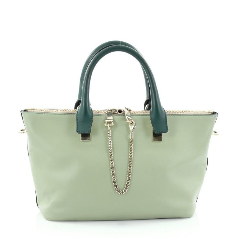 Chloé Bicolor Baylee Satchel Leather Small oGf85
