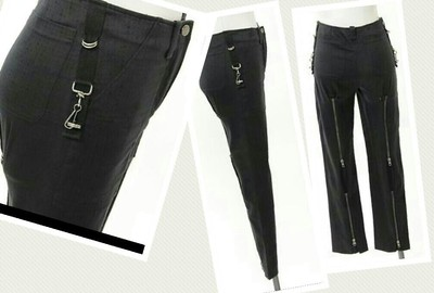 Chloé Brocade Skinny Chanel Louis Vuitton Alexander Mcqueen Suspender Couture Ankle Dior Straight Pants Black