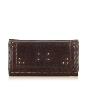 Chloé Brown,leather,long Wallets,others,6gclco009