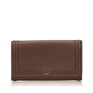 Chloé Brown,leather,long Wallets,others,6hclco003