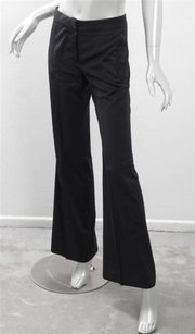 Chloé Chloe Womens Cool Wool Flat Front Straight Boot Cut Trouser Pants