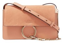 Chloé Chloe Small Faye Textured Leather Pink Shoulder Bag