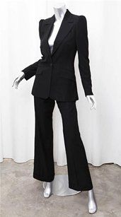 Chloé Chloe Womens Classic Black Wool Single-button Blazer Jacketpant Suit Set 386