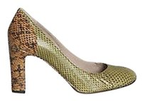 Chloé Chloe Green Tan Ayers Python Multi-Color Pumps