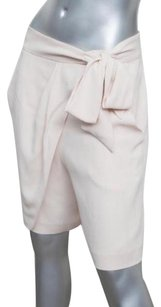 Chlo Chloe Womens Light Bow Tie Draped Woven Skort 4210 Dress Shorts Pink