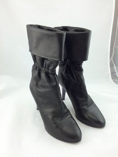 Chlo Chloe Leather Fold Over Black Boots