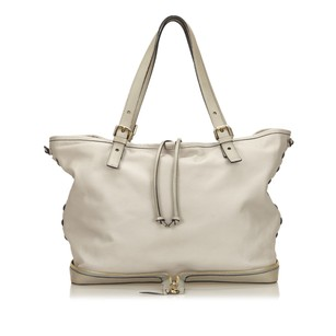 Chloé Gray Leather 6cclto003 Tote