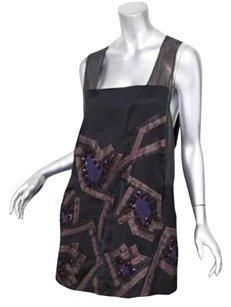Chloé short dress Black Chloe Womens Embroidered Beaded Sleeveless Cocktail Shift Mini 404 on Tradesy