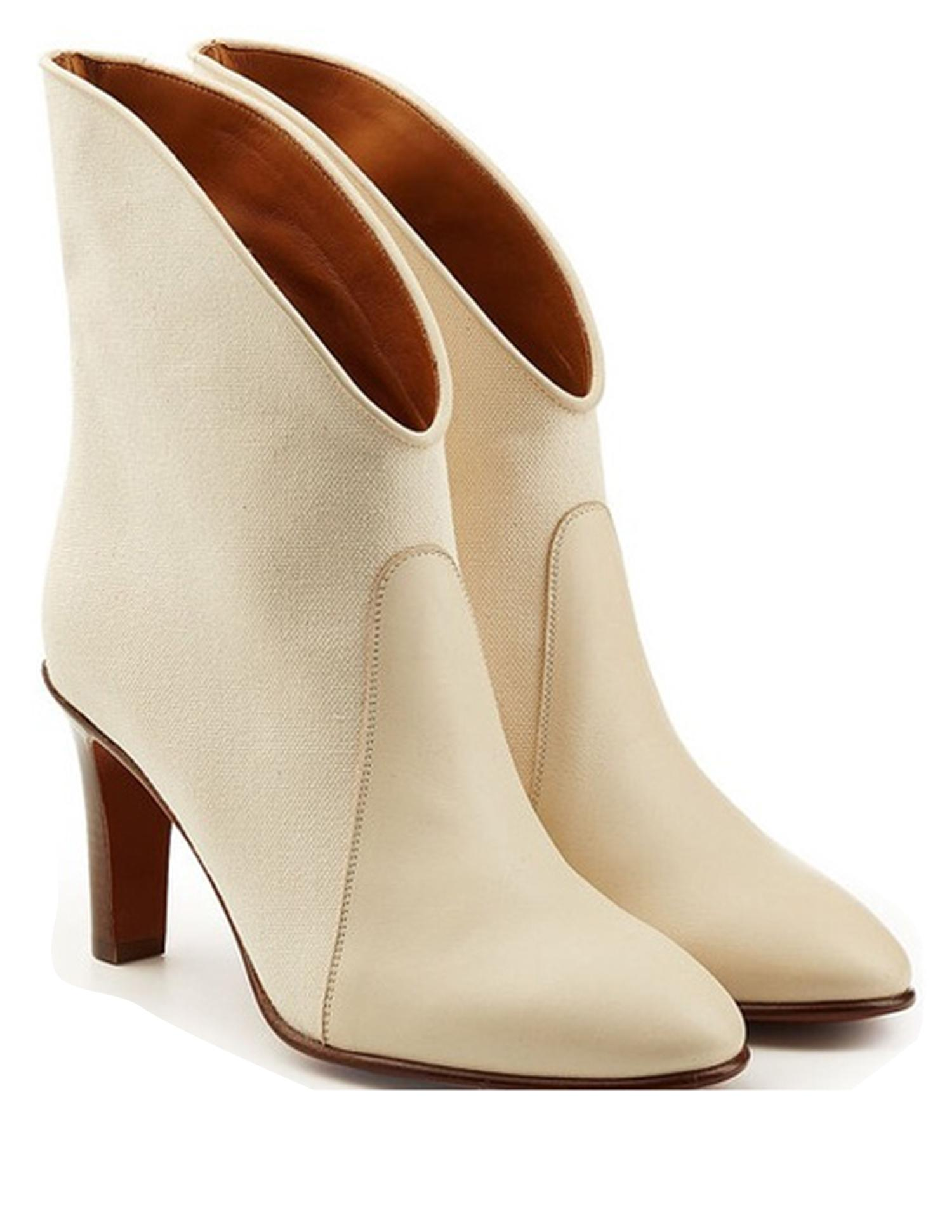 buy cheap lowest price cheap sast Chloé Kole canvas and leather ankle boots zvMzhntlCl