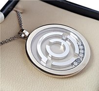 Chopard 18kt White Gold Large Pendant with 0.35CtTw Diamonds