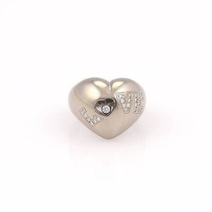 Chopard Chopard 18k White Gold Happy Diamonds Love Heart Ring With Certificate Box