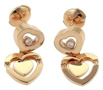 Chopard Chopard Happy Amore Floating Diamond 18k Rose Gold Heart Drop Earrings