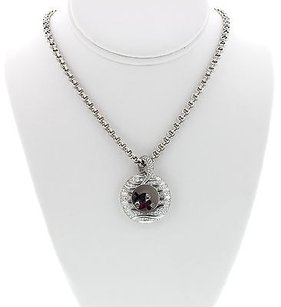 Chopard Ladies 18k White Gold Chopard Happy Fish Necklace W Diamonds