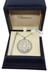Chopard Super Rare! 18k White Gold CHOPARD labyrinth Floating Diamond Necklace
