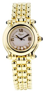 Chopard Women's Happy Sport 999867 Watch in 18K Yellow Gold with 5 Floating Diamonds WTCHPY2