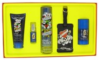 Christian Audigier LOVE & LUCK ~ Men's Gift Set -- 3.4 oz EDT Spray + 3 oz Hair & Body...