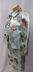 Christian Lacroix Christian Lacroix Mint Green Skirt Suit With Floral Design -