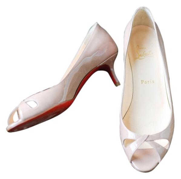 the latest 451a9 90813 Christian Christian Christian Louboutin Beige Patent Leather ...