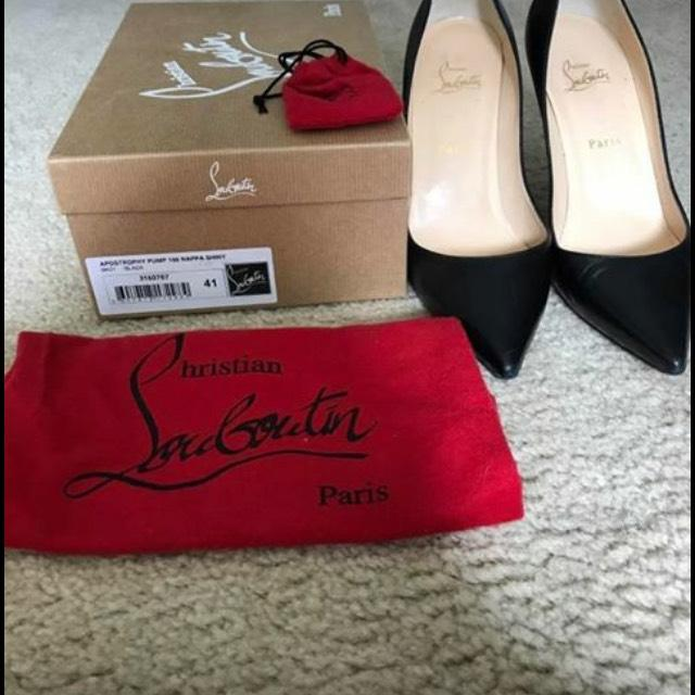 christian louboutin à apostrophy noire a taille taille taille ue 41 (environ 11) ordinaires (m, b) a19f2f