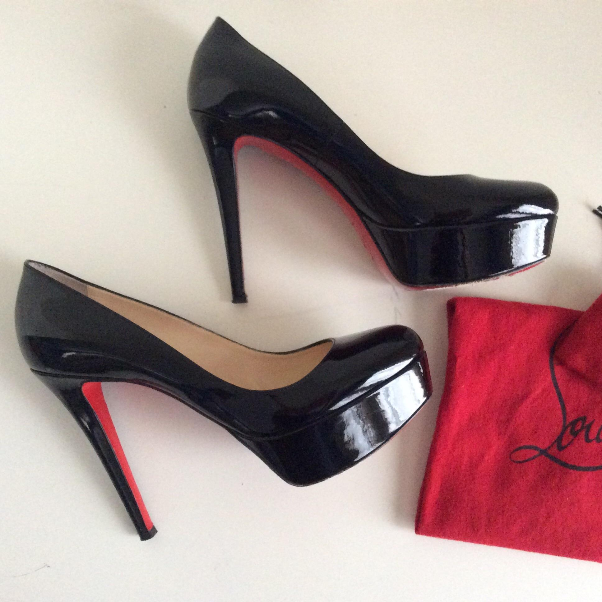 official photos 9efaa 0ab7d Christian Louboutin Black Bianca 120 Mm Patent Leather Pumps ...