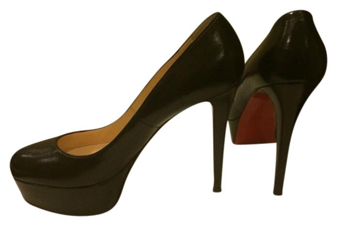 Christian Louboutin Black Bianca 140 Pumps Size US 7 Regular (M, B)