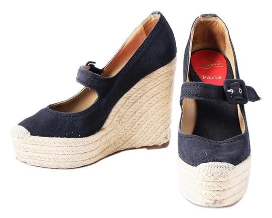 Christian Louboutin Mary Jane Platform Wedge Espadrilles for sale top quality clearance footlocker pictures reliable for sale pay with visa cheap price best store to get WjDbVtb8G