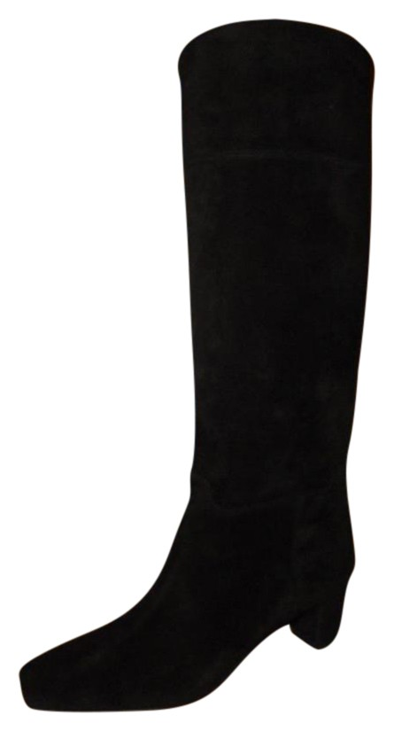 Christian Louboutin Black Cavaliere Suede Knee High Tall Boots/Booties Size US 7