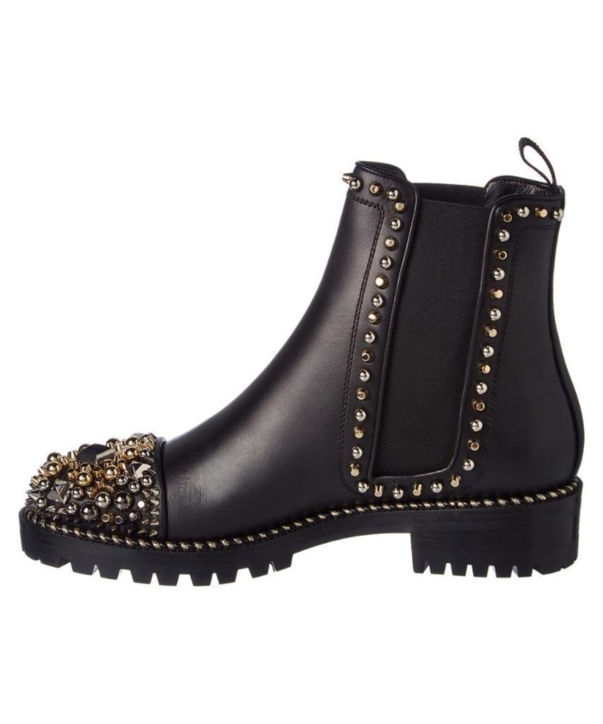 wholesale dealer 02756 a178f hot louboutin flat ankle boots 85bec ebbfd