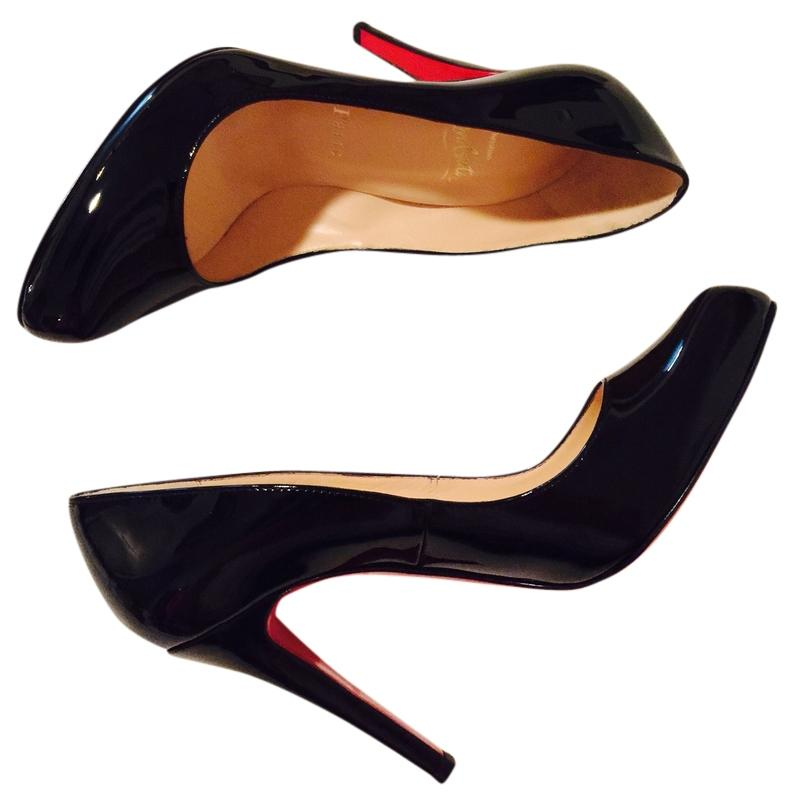 Christian Louboutin Black Decollete 868 100 Patent Calf Pumps Size US 7 Regular (M, B)