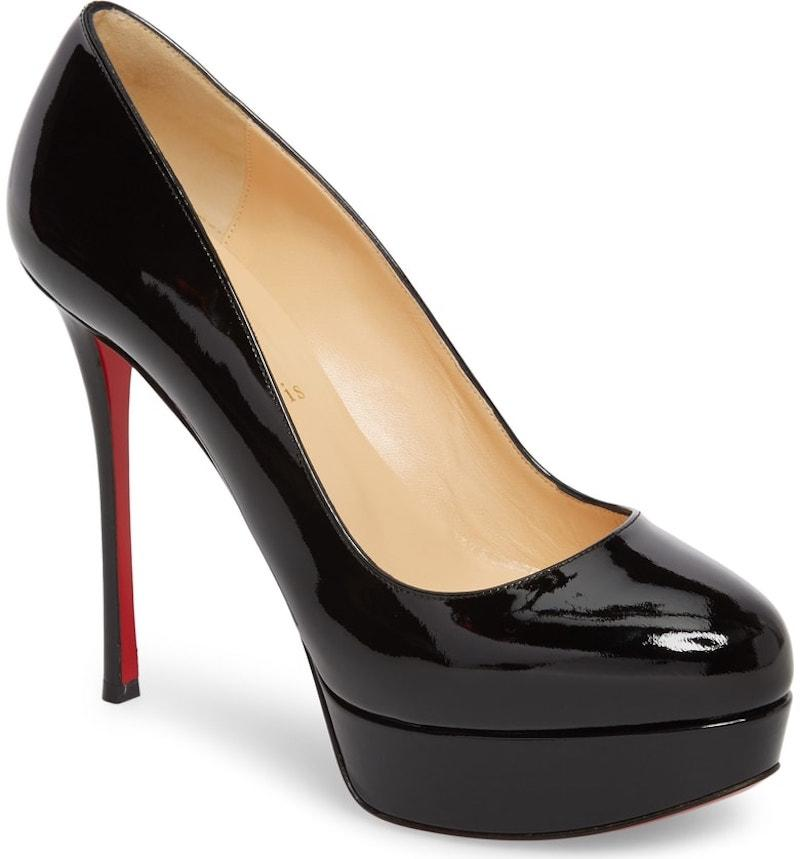 f1212e0030 ... Christian Louboutin Black Dirditta 130 130 130 Patent Leather Platform  Classic Stiletto Heel Pumps Size EU ...