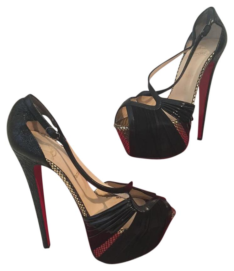 Christian Louboutin Black Divinoche Pumps Eu 39.5 - 9 Platforms Size US 8.5 Regular (M, B)