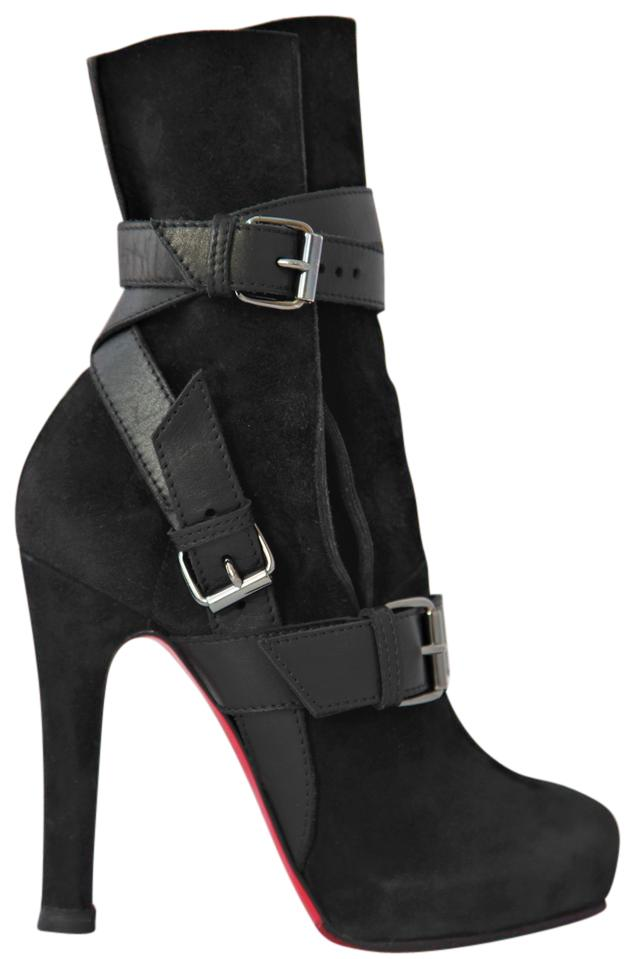 Christian Louboutin Black Guerriere 36 It Suede High Heel Lady Fashion Toe Platform Ankle Boots/Booties Size US 6 Regular (M, B)