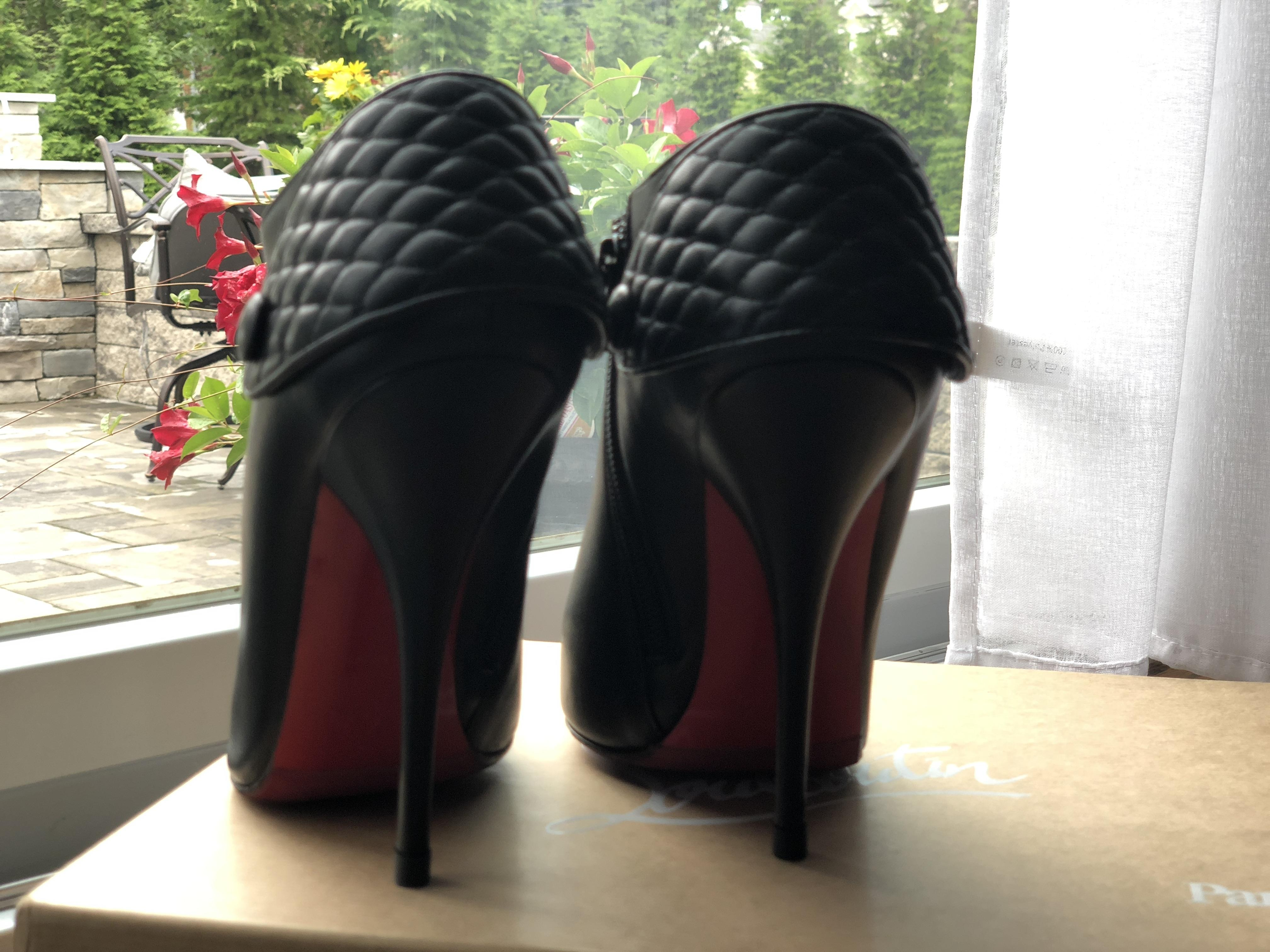 7ad6808669 ... Christian Louboutin Black Heugette 38 Boots/Booties Size Size Size US 8  Regular (M ...