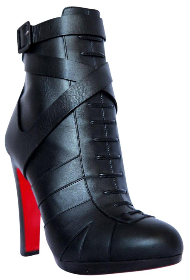 08d7cb8975aa Christian Louboutin Black Lamu Leather Platform Ankle Ankle Ankle 120 Heel  Boots Booties Size US 9.5 Regular (M