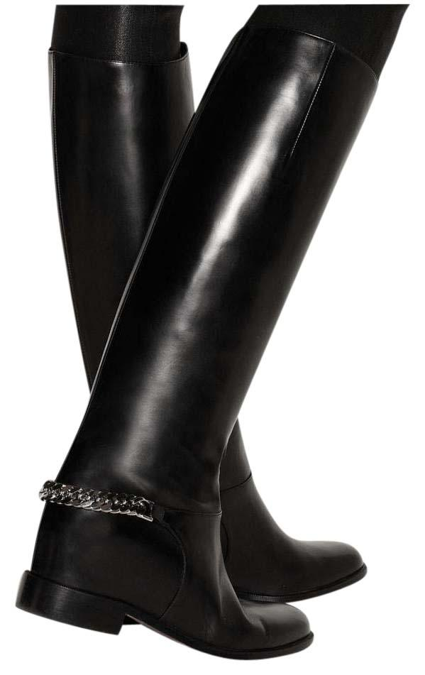 Christian Louboutin Black Leather Cate Tall 10.5/41 Boots/Booties Size US 10.5 Regular (M, B)