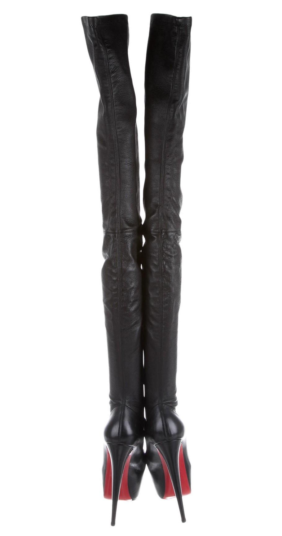 size 40 81555 4dd46 inexpensive christian louboutin monica thigh high boots job ...