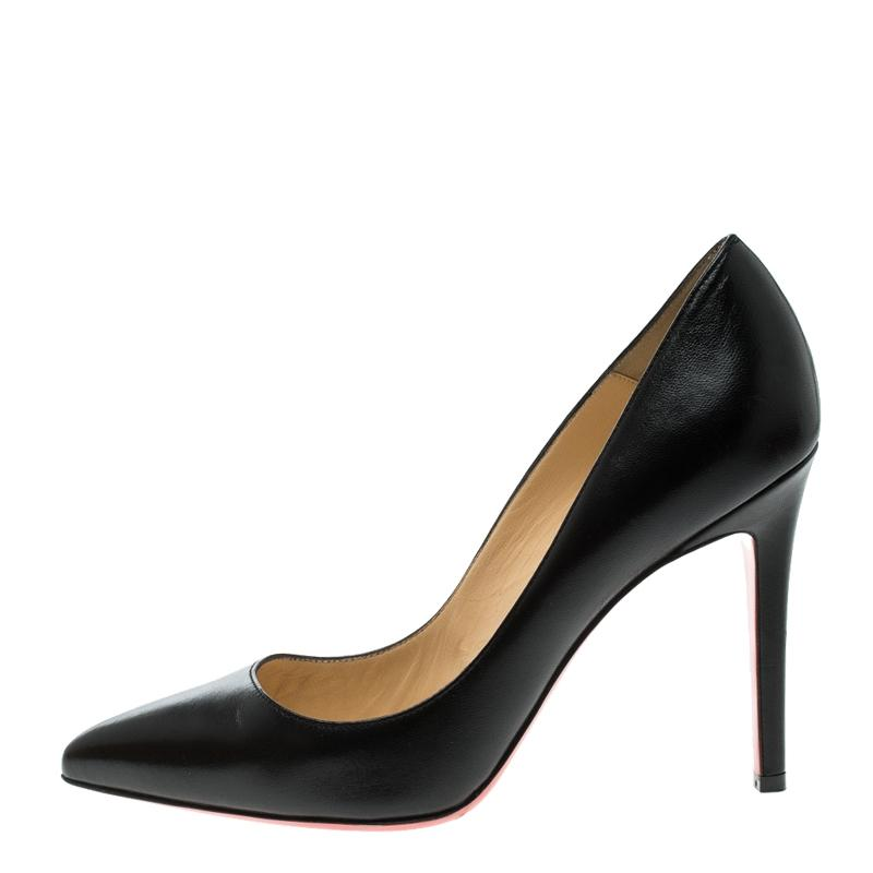 9cf6044c220 US Christian Christian Christian Louboutin Black Leather Pigalle Pointed  Pumps Size EU 37.5 (Approx. US Christian ...